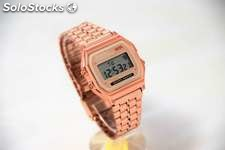 Reloj Digital Retro Bronce