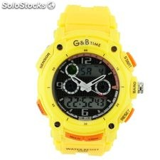 Reloj G&B RGB-77766 amarillo analogico y digital