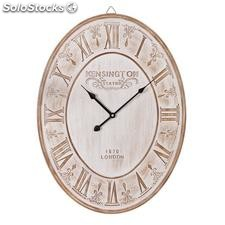 Reloj pared blanco rozado dm 45x3,50x60cm
