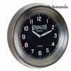 Reloj pared metal negro by Homania