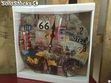 Reloj pared Moto Route 66