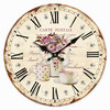 Reloj Pared Retro Floral 34 cm