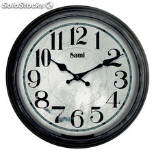 Reloj pared Sami RSP-97153 marco vintage antique
