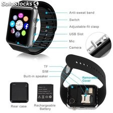 Reloj smart watch negro