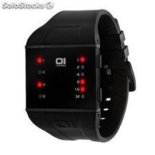 Reloj The One Slim Square Hombre Binario Negro
