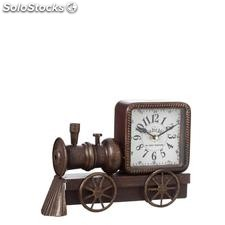 Reloj tren marrón metal decoración 30x7x21cm