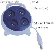 reloj usb hub2.0 cartoon usb hub hhh108