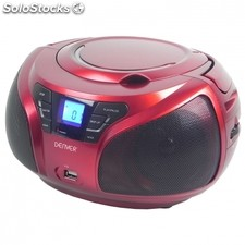 Reproductor CD denver tcu-206 red - 2x 1W rms - usb - MP3 -radio FM - display