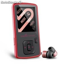 Reproductor Energy Sistem MP4 slim 3 ruby red (8GB, auriculares intrauditivos,