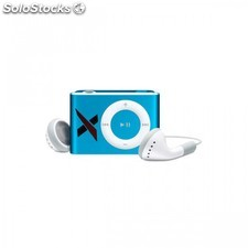 Reproductor MP3 clip radio FM auriculares azul 8GB
