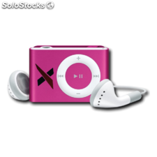Reproductor MP3 clip radio FM auriculares rosa 8GB