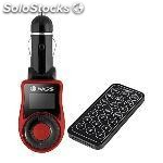 Reproductor MP3 para coche ngs MREMMP0047 spark V2 FM usb sd/mmc negro rojo