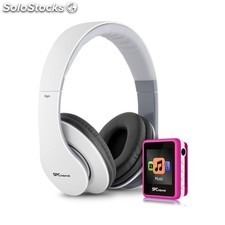 Reproductor MP4 4Gb rosa 8234P + auriculares