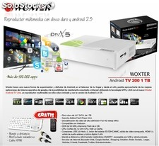 Reproductor multimedia Woxter Android TV 200 1TB + teclado QWERTY