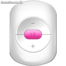 Reproductor portátil MP3 brigmton bpa-41-r Mini 4GB blanco/rosa