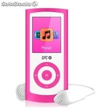 Reproductor portátil MP4 spc 8464 Pure Sound Aluminium + radio rosa