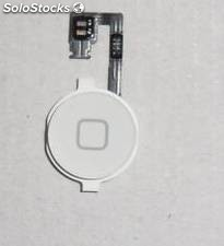 Repuesto boton home + flex para apple iphone 4g blanco