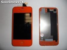 Repuesto housing completo para apple iphone 4s naranja