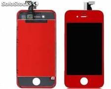 Repuesto housing completo para apple iphone 4s rojo