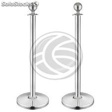 Retractable barrier cord posts for queue management 320x51x1000mm stainless 2