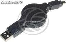 Retractable usb 2.0 Cable for Fuji tdk 120cm (am/Fuji4P) (EX63)