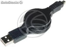 Retractable USB 2.0 Cable for Minolta 120cm (AM/Minolta8P) (EX65)