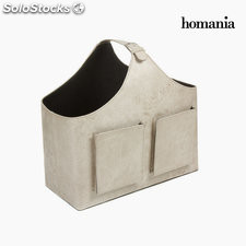 Revistero bolsillos color beig by Homania