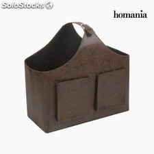 Revistero bolsillos color marr by Homania