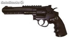 "Revolver negro CO2 4.5mm Python 6"" Airsoft"