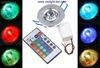 Rgb Downlight led 3w total 16 colores con el remoto 110v 127v 220v 240v