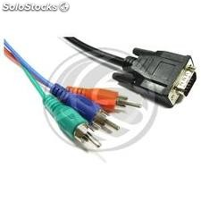 Rgb Video Cable 3xRCA-m to vga (HD15-m) 10m (GB04)
