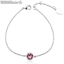 Rhodium-plated bracelet set with Swarovski® crystal.