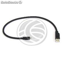 Rigid Flexible Cable MicroUSB Android or 45cm (US88)