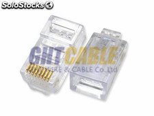 RJ45 conector cat5e 8pin conector de cable de red 1000pieza/bolsa