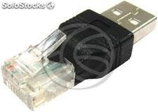 RJ45 to usb Adapter (RJ45-m/usb-am) (CT53)
