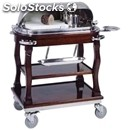 Roast beef hot bain marie trolley - mod. cr0103 - solid wooden structure