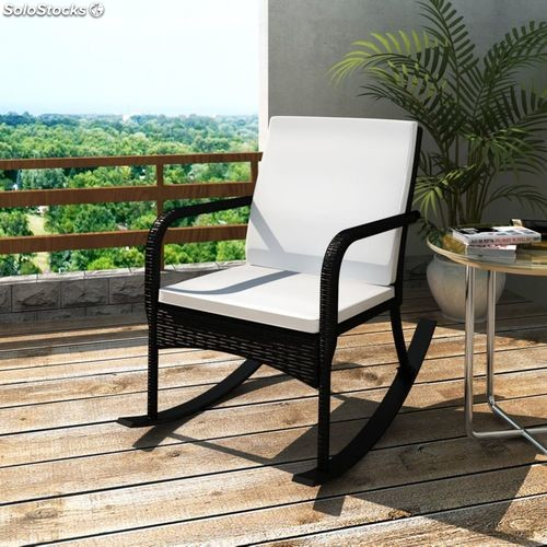 rocking chair fauteuil rocking chair fauteuil bascule en rotin noir produits france. Black Bedroom Furniture Sets. Home Design Ideas