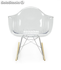 Rocking chair transparente