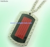 rojo scrolling message badge necklace (mol513)