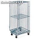 Roll container trolley - mod. 1814 - stackable antitheft - with base on castors