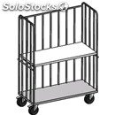 Roll container trolley - mod. 1833 - with base on castors - three fixed frames -
