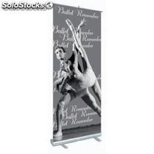 Roll up 100 x 206 cm. display autoenrollable de aluminio