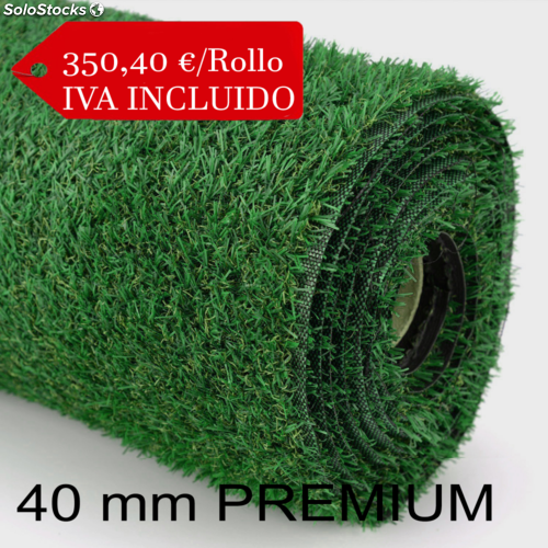 Rollo césped artificial premium 40mm - andalusi