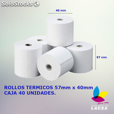 Rollo De Papel Termico 57mm X 40mm