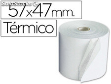 Rollo sumadora termico q-connect 57 mm ancho x 47mm diametro para maquinas