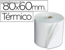 Rollo sumadora termico q-connect 80 mm ancho x 60 mm diametro