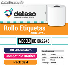 Rollos DK2243 Etiquetas Adhesivas Alternativas Brother