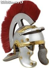 Roman metal helmet with crest