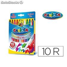 ✅ rotulador carioca magic borrable caja de 10 colores