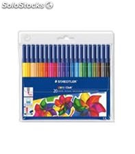 Rotulador fibra noris club 326 20 colores staedtler 326 wp20